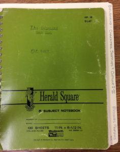 Eddings' notebooks for the Belgariad