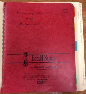 Eddings' notebook drafts for The Belgariad