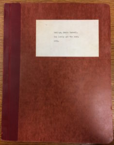 "Eddings' BA thesis ""How Lonely Are The Dead"" (1954)"